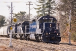 MEC 3400 leads EDPO past the relics of the old Shirley signals