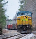 MEC 7727 leads EDPO out of Graniteville Siding