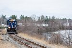 The Empty Coal Train trundles south along Merrimack River