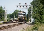 23K comes around the curve with an SD60E in charge