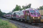 MBTA 2037 passes 23K with an outbound in tow