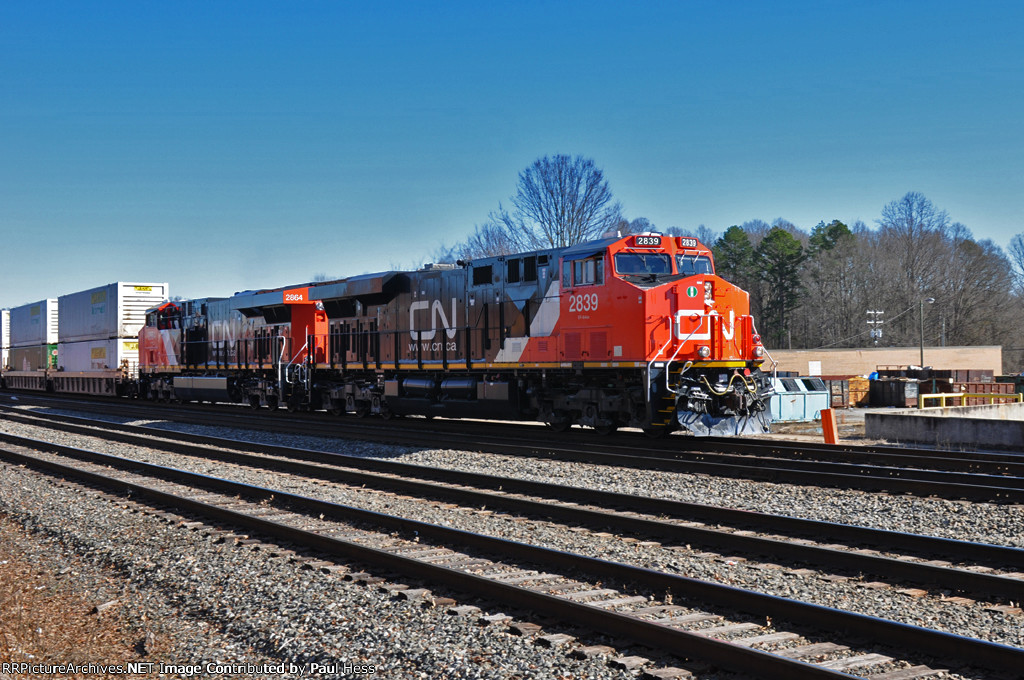 Stack train at Salisbury