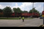 CP 9643 going north passing the local July 4th parade