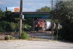 CP 8617 leads under the bridge