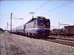 Amtral AEM7 902 Accelerates out of Union Station - 1985