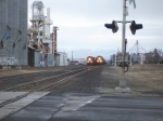 BNSF 5387 coming hard on the main.
