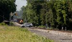 Q404 lead by CSX 3150 is gaining speed