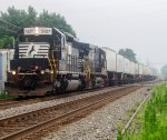 NS 3427 leads an intermodal through Macungie