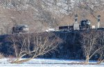 Rolling over an icy Susquehanna River