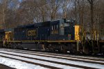 CSX SD40-3 4046 as the middle unit on Q438-17