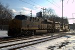 Q438-17 lite power backs into Woodbourne Yard