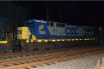 CSX C40-8 7585 trails on Q702-30