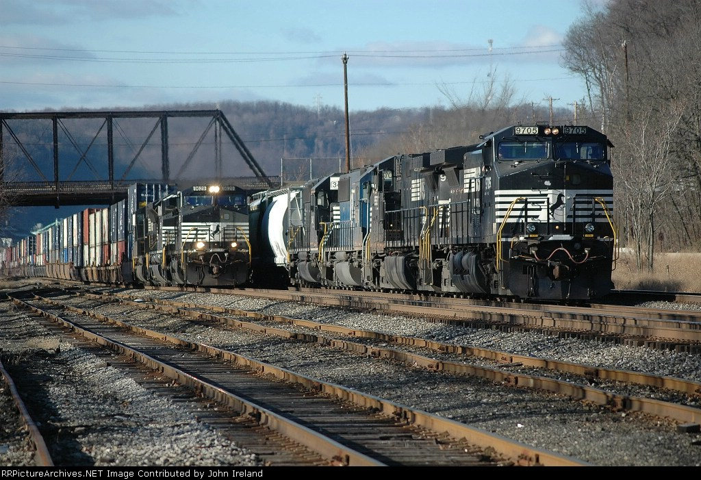 NS 24Z (stacktrain) over taking 15N (general merchandise)
