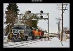 NS 8153 & BNSF 8905