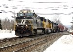 Eastbound manifest freight train at the PA Route 100 grade crossing