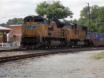CSX Q144 with 2 UP leaders