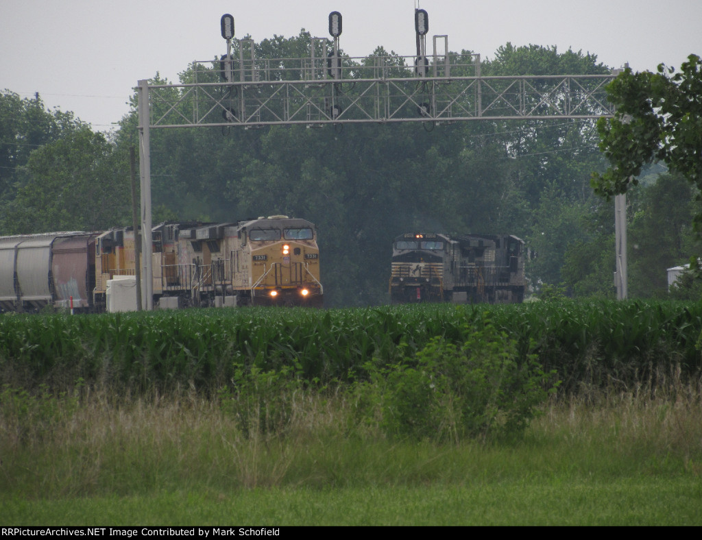 UP 7331 and NS 9580