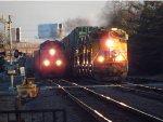 Two Train Race At Elmhurst