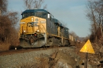 CSX 5235 on stacktrain at Stony Point