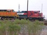 BNSF 7615 & FXE 4056