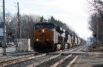 CSX 3007 with train Q410
