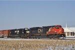 CN 8878 On NS 123 Eastbound