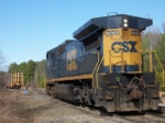 CSX 7870 setting off empty bulkhead flat for NS