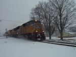 Southbound Intermodal in the Snow