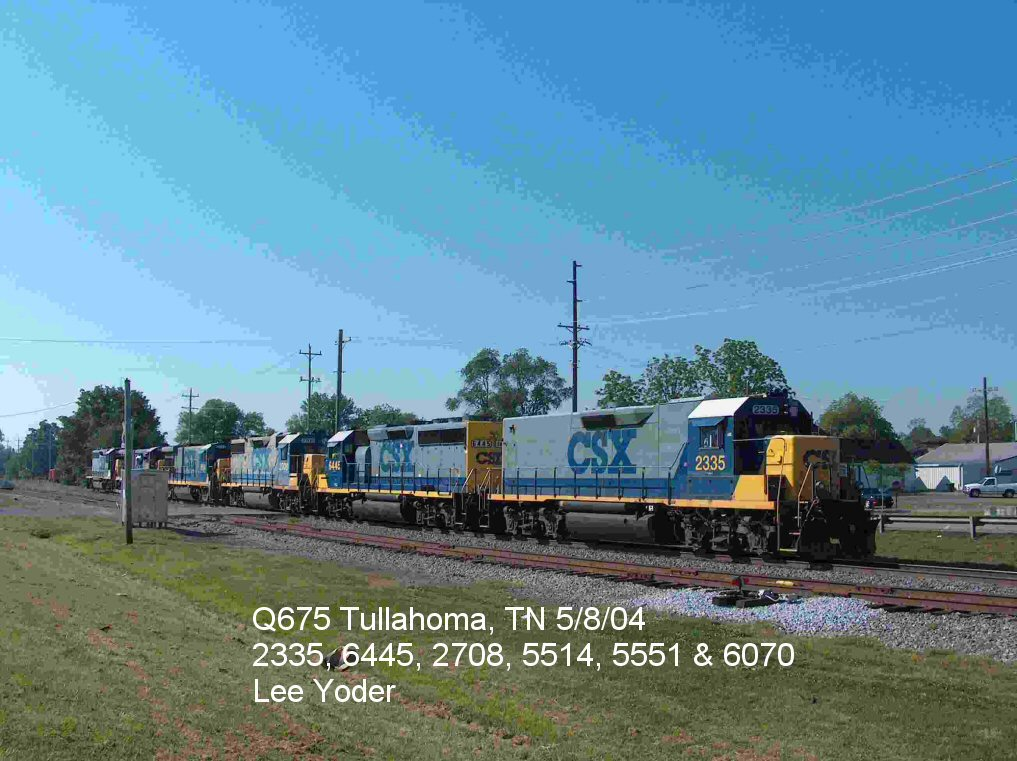 Herding the locals, Q675 backs to the train after picking up 6070 to take to Nashville for fueling