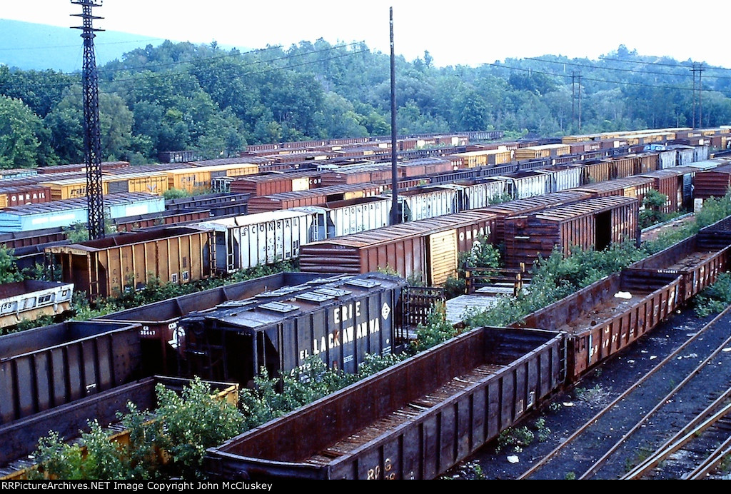 All those freight cars in the dead line