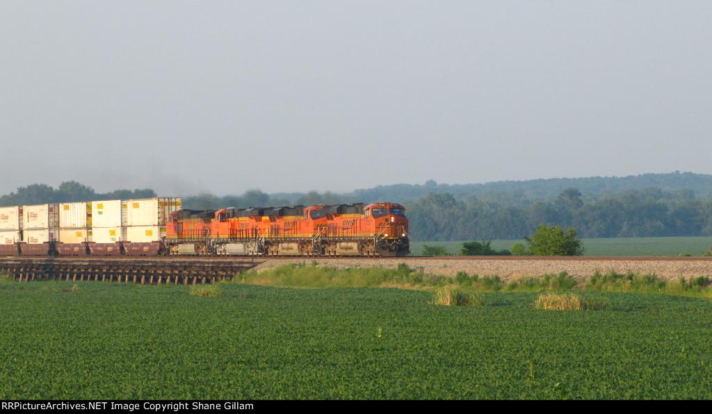 BNSF 7239 Rocks a Z train westbound.