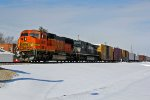 BNSF 8256 and NS 9690 lead this freight.