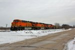 BNSF 5729 and other's power a empty coal train.