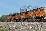 BNSF 6585 Leads a WB grain train..
