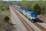 AMTK 11 Leads the Southwest Chief #4 EB into Gibbs Mo..