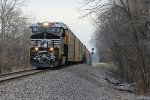 NS 8108 Leads a WB auto in the early am.