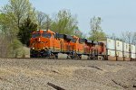 BNSF 8042 newer gevos lead a Z train West...
