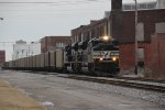 NS 1007 and NS 1092 lead this coal train into Luther yard.