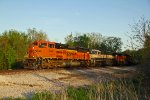 BNSF 9146 Rolls a coal into the setting Sun..