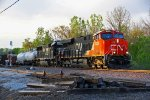 Cn 2335 Rolls a freight out of Ashburn Mo..