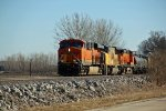BNSF 6534 Leads a TULNTW freight up the BNSF Hannibal Sub,