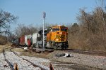 BNSF 8888 Heads up a freight.