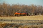 BNSF 6241 Dpu on a loaded coal train.