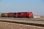2 CP Gevos lead this grain train into Granite city IL.