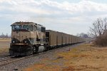 BNSF 9822 Leads a empty E SCNNAM.