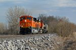 BNSF 9029 Brand new Ace with a headlight out.