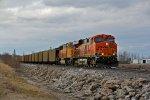 BNSF 6245 Heads up a loaded UCEX coal train.