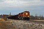 BNSF 4087 & BNSF 6572 lead this rock train SB.