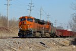 BNSF 7042 Sits dead in Old Monroe Mo.