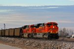 BNSF 8767 Newer Ace leading a older Ace.